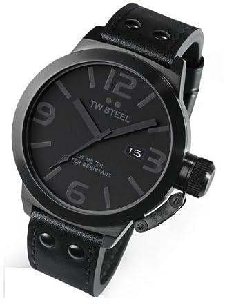 81f3297ff56 Amazon.com  TW STEEL TW822 TW STEEL Canteen Cool Black 50MM Mens Watch TW822   Watches