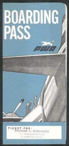 PWA Pacific Western Airlines airline ticket wallet wrapper ()