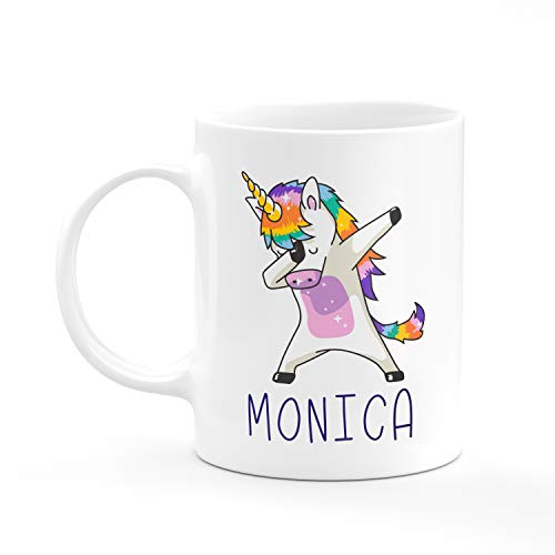 (Personalized Coffee Mug Gifts - Dabbing Unicorn Coffee Mug with Name - Gifts for Women, Gifts for Kids, Birthday Gifts, Christmas Gifts, Tazas Personalizadas, Monogram Novelty Mug, Great Gift Idea)