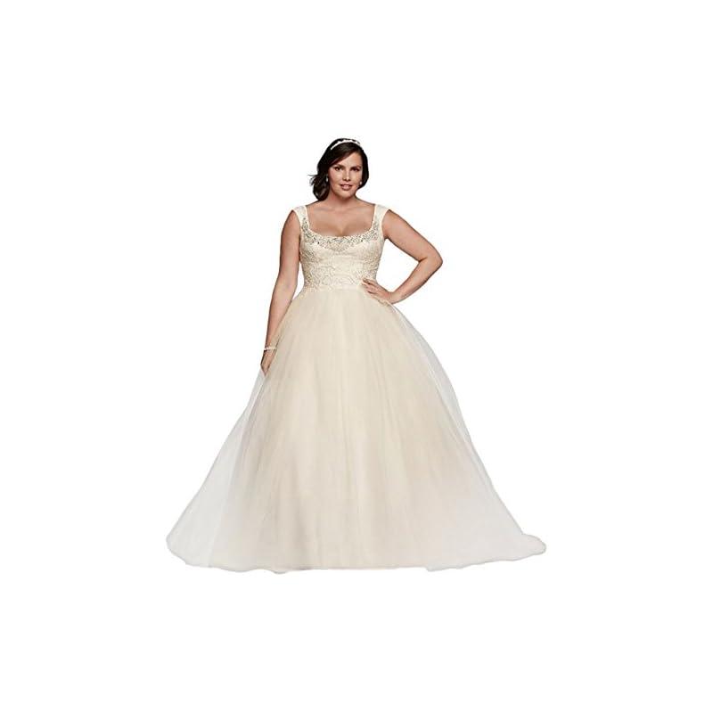 06eb0071ef07 Plus Size Oleg Cassini Off The Shoulder Lace Wedding Dress Style 8CWG733