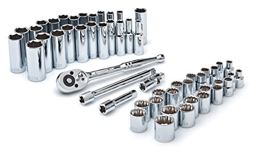 Crescent CSWS10 3/8-Inch Drive Socket Wrench Set, 52-Piece