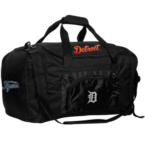 The Northwest Company MLB Detroit Tigers Roadblock Duffel Bag, Black ()