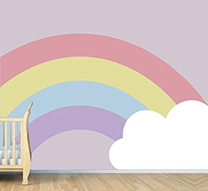 Amazon.com: Rainbow And Cloud - Nursery Wall Decal For Baby ...