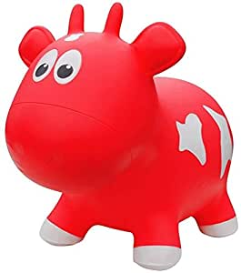 Farm Hoppers Award Winning Inflatable Bouncing Red Cow with Pump