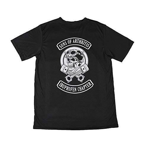 (Sons Of Arthritis Ibuprofen Chapter Men's at The Back Logo T-Shirt Large Black )