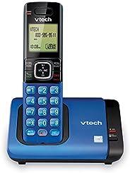 Teléfono Vtech DECT 6.0 con base para identificación de llamadas y llamada en espera, Azul/Negro