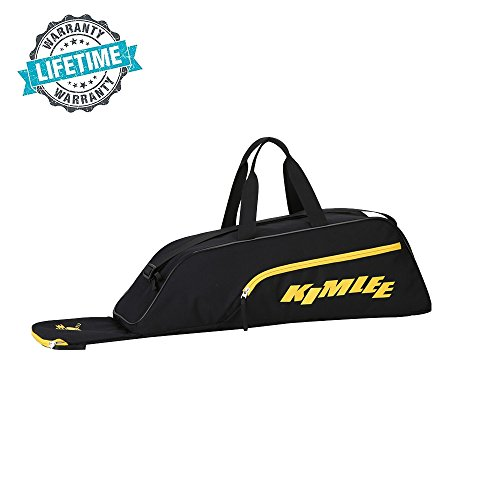 Kimlee Baseball Tote Bag T-Ball Softball Bat Equipment Gear for Teens Youth Adult with Fence Hook by Kimlee