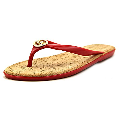 UPC 888922487440, MICHAEL Michael Kors Womens Jet Set MK Jelly Flip Flop Chili 8 M US