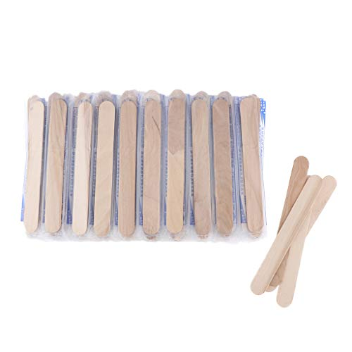 - Flameer 100 Packs Waxing Spatulas Wood Salon Craft Sticks for Hair Removal Eyebrow Wax Applicator Sticks