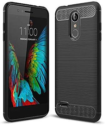 XTstore Funda LG K9, [Textura Fibra de Carbono] Carcasa Silicona ...