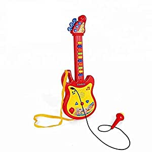 electric musical instrument toy kids guitar with microphone