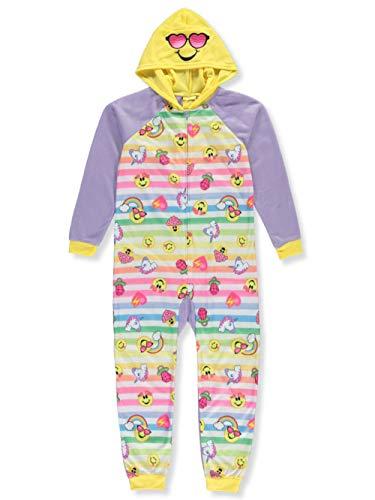 Emojination Girls' Big Hooded Blanket Sleeper, emoji's, XS
