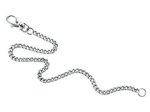 jowiha® Gliederkette Kette für Schlüssel oder Geldbeutel mit einem Karabinerhaken und Schlüsselring