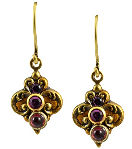 Fleur De Lis Handmade Costume - Michal Golan 24k Gold Plated Inverted Fleur de Lis Drop Earrings