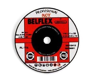 Belflex - Disco corte acero inox.115x1,6x22: Amazon.es ...