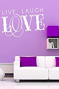 Walliv Decals Live, Laugh Love Wall Sticker Decal Wall Quotes [wq0894]