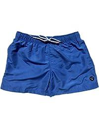 Official Molokai Mens Swim Trunks Quick Dry Elastic Waist Drawstring (Ocean Blue, Large)