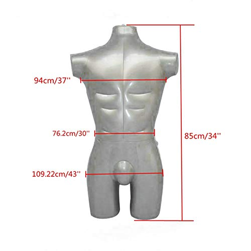 New Inflatable Male Torso Model Half Body Mannequin Top Clothing Display Props
