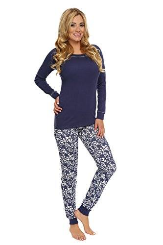 Italian Fashion IF Pijamas para Mujer Kelly 0223 Azul Oscuro/Azul Oscuro