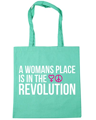 Beach Shopping Gym x38cm 10 Tote Place The In Mint Bag Womans HippoWarehouse Is 42cm litres A Revolution TBwqgA8vU