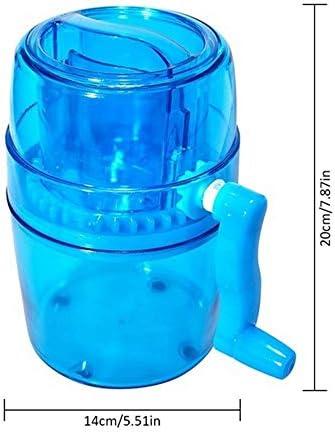 Ice Crushing Blender, Hand Eismaschine, Kleine Mini Eismaschine, Haushalts-Hand Ice Crusher Doppel-Blade-Eis-Maschine, Bewegliche Handkurbel Ice Crusher