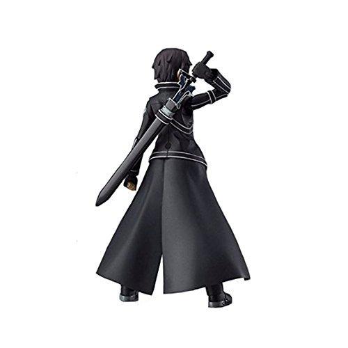 1pcs Anime Sword Art Online S.A.O Kirito Action Figure Toys 15cm Kirigaya Kazuto Figma PVC Action Figure Collectible Model Toy 3 Face