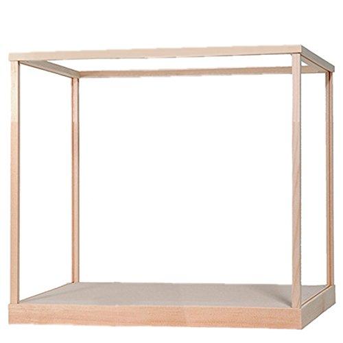ウッディジョー 建築ケース D型ケース 1/150 姫路城専用 木製白木枠 ガラス無し W555×D555×H450mm 組立式 ディスプレイケース   B004TJN7DK