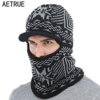 cc64495864b AETRUE Winter Hat Men Women Knitted Hat Scarf Skullies Beanies Winter  Beanies for Men Caps Mask Balaclava Bonnet Cap Hats 2018  Amazon.in  Beauty