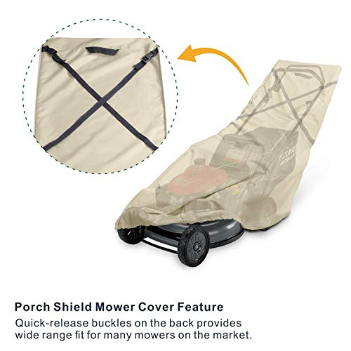 Porch Shield Waterproof Push Lawn Mower Cover Universal Fit Walk Behind Mower