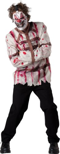 Circus Scary (InCharacter Costumes Men's Circus Psycho Clown Costoume, White/Red, X-Large)