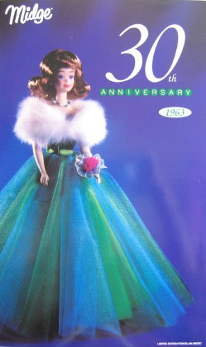 Barbie MIDGE 30th Anniversary PORCELAIN Doll 1963 Limited Edition w SHIPPER (1993) (Porcelain Barbie Limited Edition)