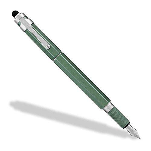 Levenger L-Tech 3.0 Fountain Pen, Medium, Moss (AP12640 MOS M NM)