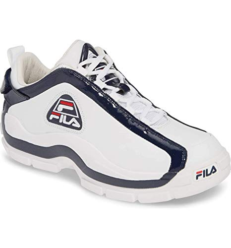 Fila Mens 96 Low Sneaker,White/Navy/RED,9.5