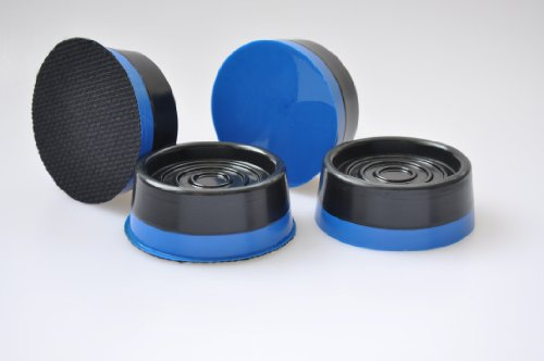 premium ocean blue silent feet - anti-vibration pads for washing machines and dryers