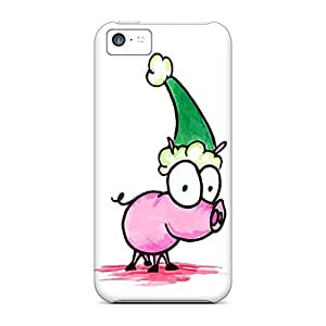Flexible Back Case Cover For Iphone 5c - Party Swine