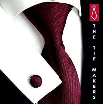 BEYTNUR - Corbata de boda rojo borgoña: Amazon.es: Ropa y accesorios
