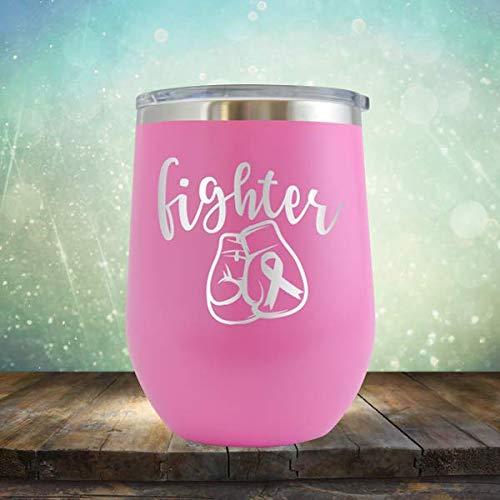 Guantes de caza, color rosa, con grabado de vaso de vino sin ...