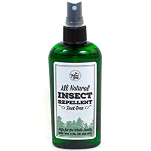 All Natural Insect Repellent, Long Lasting Deet Free Bug Spray That's Safe for Kids. Made in USA. 100%