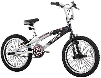 CINZIA - Bicicleta de 20 Pulgadas BMX Freestyle Rock Boy de Aluminio Blanco y Negro: Amazon.es: Deportes y aire libre