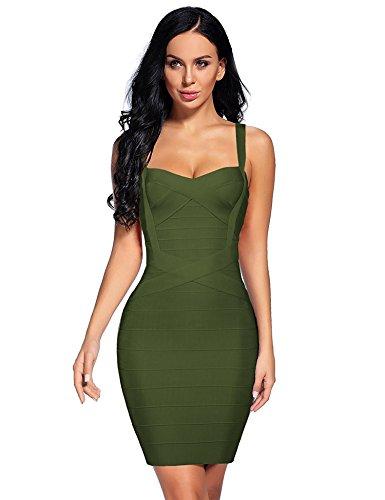 olive bandage dress - 7