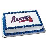 Atlanta Braves Licensed Edible Cake Topper #4678
