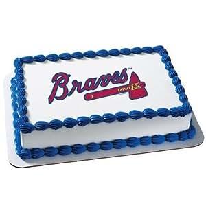 Amazon Atlanta Braves Licensed Edible Cake Topper 4678