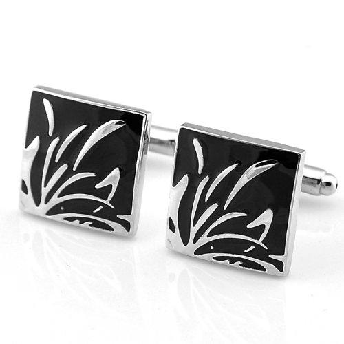 Nœud Papillon PENSEE Fashion Floral boutons de manchette pour hommes avec boîte cadeau