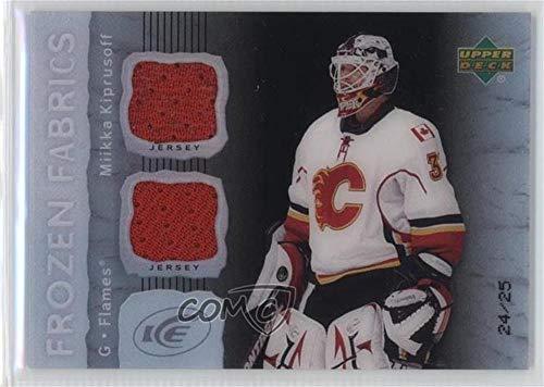 08 Upper Deck Ice - Miikka Kiprusoff #/25 (Hockey Card) 2007-08 Upper Deck Ice - Frozen Fabrics - PETG Black #FF-MK