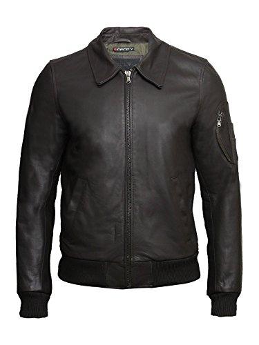 Cowhide Leather Flight Jacket - 7