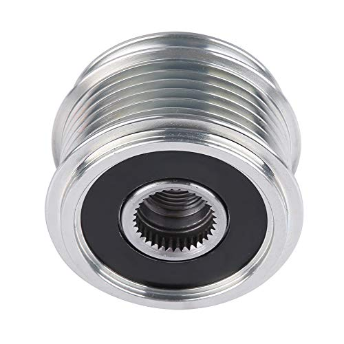 Dibiao Car Overrunning Alternator Pulley Freewheel Clutch Alternator Defender Double Groove Belt Pulley: