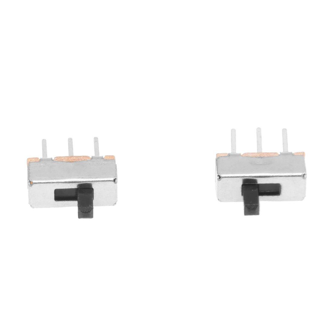 R 50pzs SS12D00G3 2 posiciones SPDT 1P2T 3 Pines Mini interruptor deslizante vertical del panel PCB TOOGOO