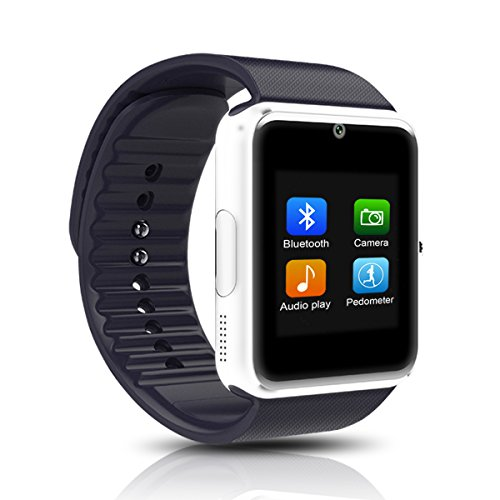 Smart Watch Otium Touch Screen Bluetooth Smart Watch Wrist Watch Phone with SIM Card Slot for iPhone Android Samsung HTC Sony LG Smartphones Black