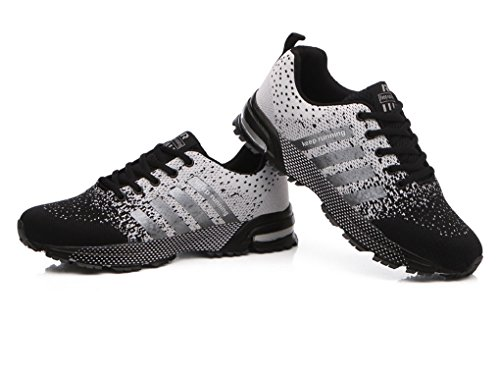 Sport Cushion Evedaily Sneakers Lightweight Shoes Shoes Flat Running Marathon White Mens Cushioning Shoes Jogging Fitness Air Hq55gOx