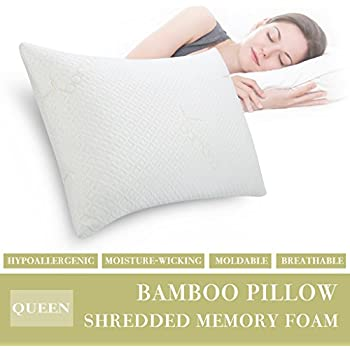 Amazon Com Langria Shredded Memory Foam Pillow Firm For